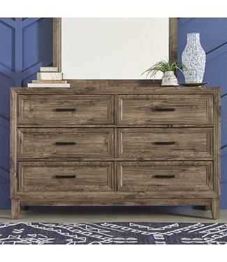 Liberty Furniture Ridgecrest (384-BR) 6 Drawer Dresser SKU: 384-BR31
