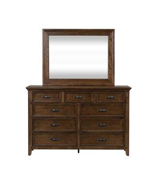 Liberty Furniture Saddlebrook (184-BR) Dresser & Mirror SKU: 184-BR-DM