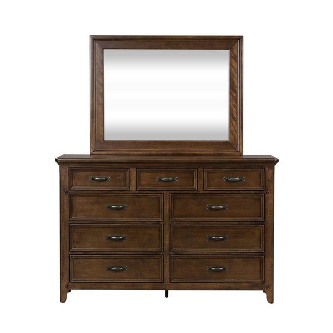 Liberty Furniture Saddlebrook Dresser & Mirror SKU: 184-BR-DM