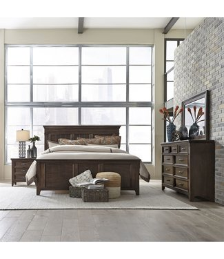 Liberty Furniture Saddlebrook (184-BR) Queen Panel Bed, Dresser & Mirror, NS SKU: 184-BR-QPBDMN