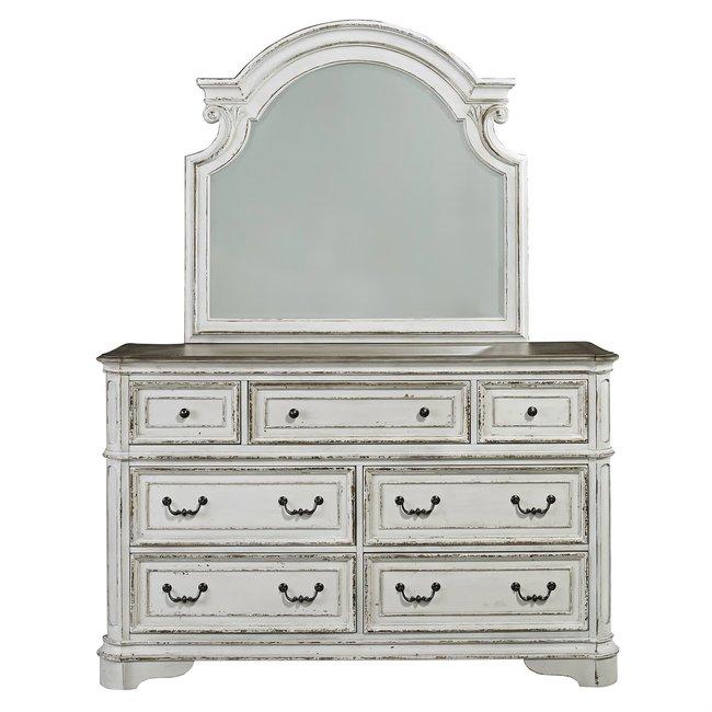 Liberty Furniture Magnolia Manor Dresser & Mirror (244-BR-DM)