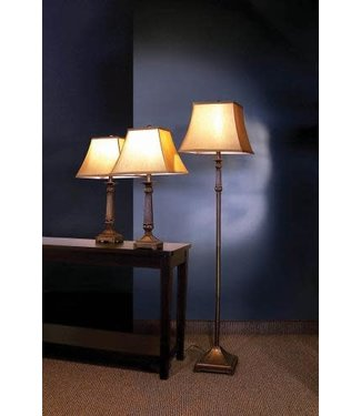 Coaster 901160 3 Pieces Lamps Set in Dark Bronze (1 Floor and 2 Table Lapms)