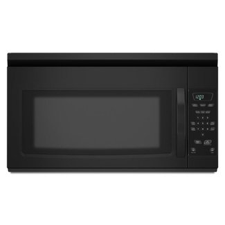 Whirlpool Amana AMV1150VAB Over the Range Microwave Oven with 1.5 cu. ft. Capacity, 1000 Cooking Watts, Non Ducted Venting, 220 CFM, in Black