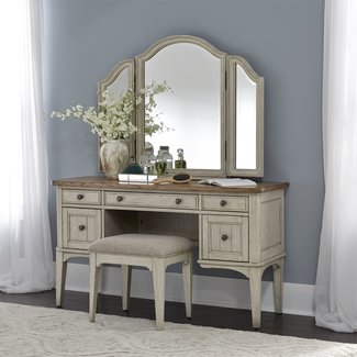 Liberty Furniture Farmhouse Reimagined (652-BR) 3 Piece Vanity Set SKU: 652-BR-VN