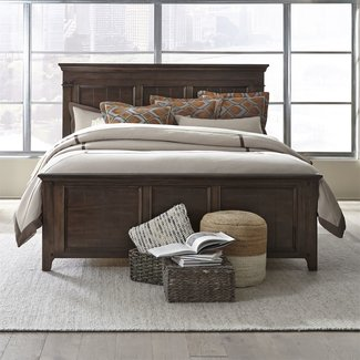 Liberty Furniture Saddlebrook (184-BR) Queen Panel Bed SKU: 184-BR-QPB