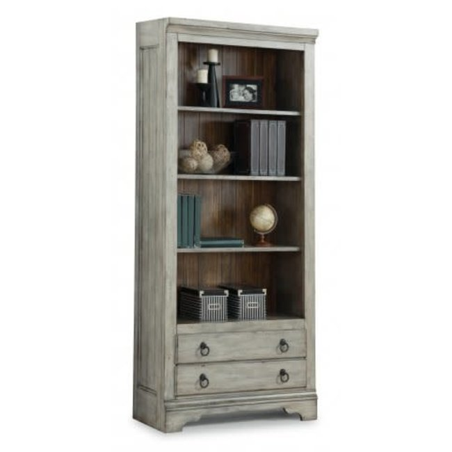 Flexsteel Plymouth Cottage File Bookcase with Four Open Shelves by Flexsteel Wynwood Collection