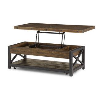 Flexsteel® Carpenter | Rectangular Lift-Top Cocktail Table w/ Casters 6722-0311