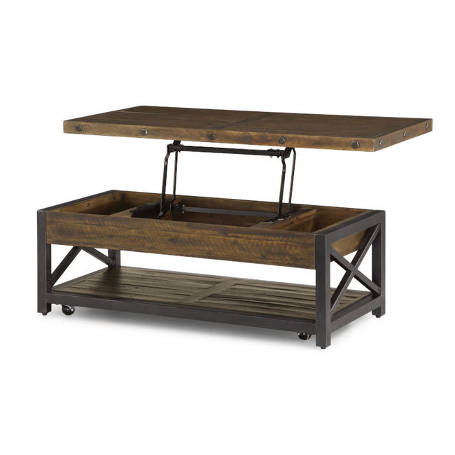 Carpenter | Rectangular Lift-Top Cocktail Table w/ Casters 6722-0311