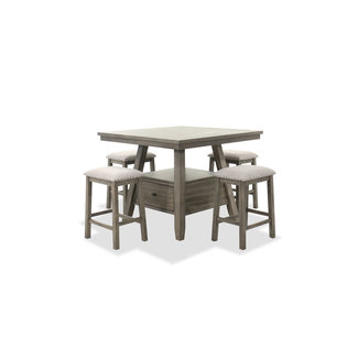 Lane Home Furnishings Mckinley | Five-Piece Counter Table and Barstool Set in Brown | SKU: 5049/5PC