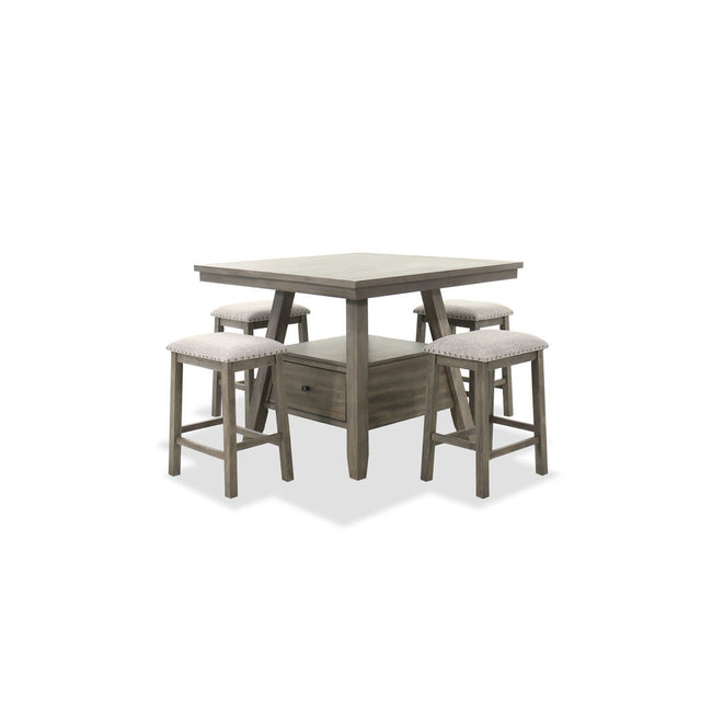 Lane® Home Furnishings 5049 5 Piece Gray Counter Height Dining Set-5049-5-CH