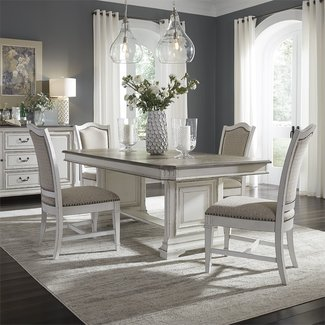 Liberty Furniture Abbey Park (520-DR) 5 Piece Trestle Table Set SKU: 520-DR-5TRS