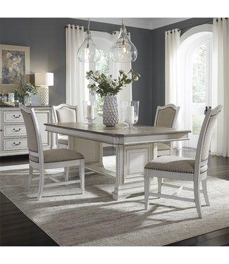 Liberty Furniture Abbey Park (520-DR) 5 Piece Trestle Table Set SKU: 520-DR-5TRS