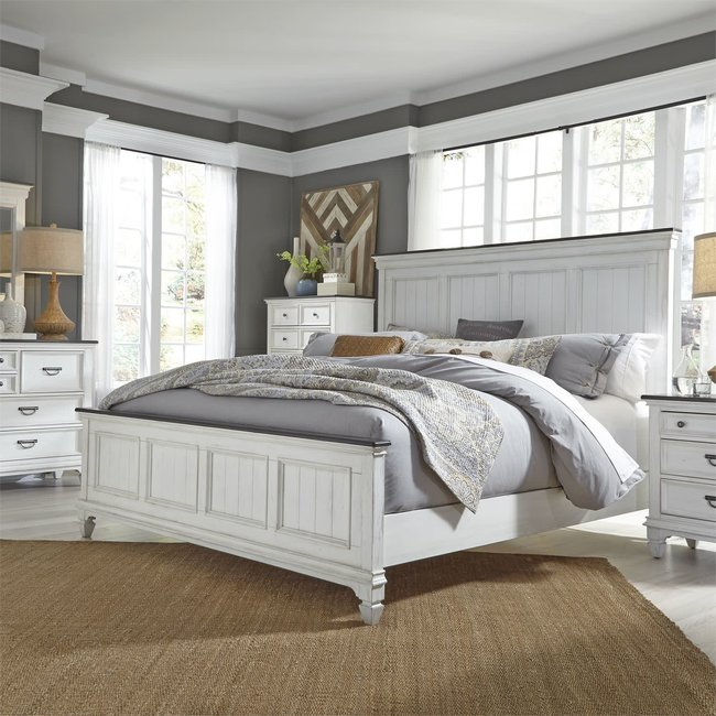 Liberty Furniture Allyson Park (417-BR)  Panel Bed, Dresser & Mirror, Chest, NS