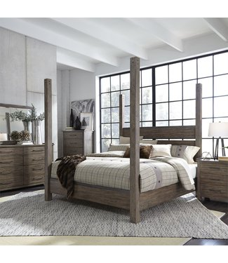 Liberty Furniture Sonoma Road (473-BR)  Poster Bed, Dresser & Mirror, Chest, NS