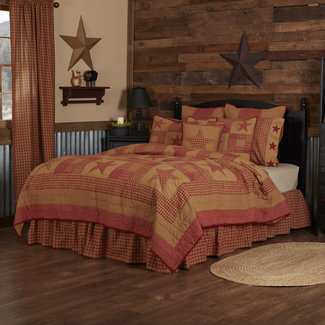 VHC BRANDS NINEPATCH STAR QUILT
