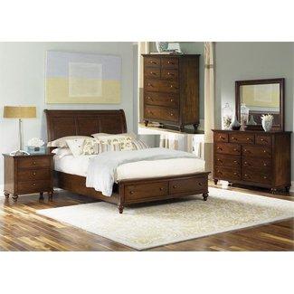 Liberty Furniture Hamilton (341-BR) Storage Bed, Dresser & Mirror, Chest, NS 341-BR-QSBDMCN