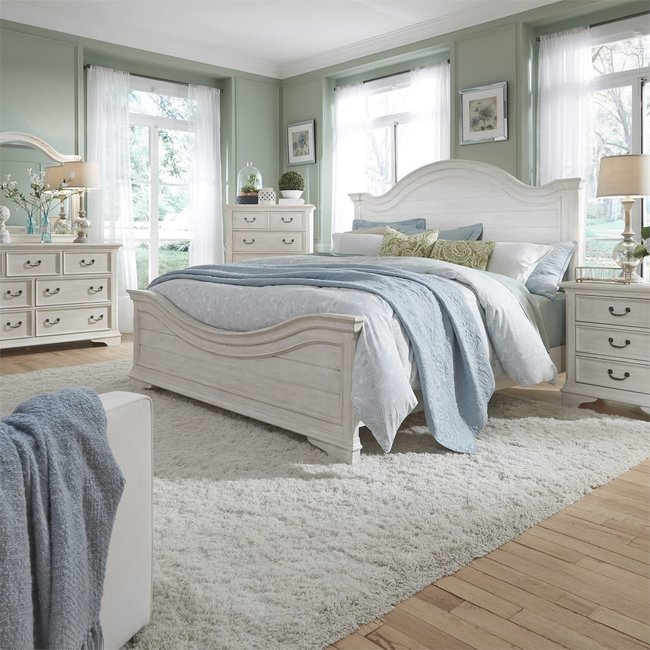 Liberty Furniture Bayside (249-BR) Queen Panel Bed, Dresser & Mirror, Chest, NS SKU: 249-BR-QPBDMCN