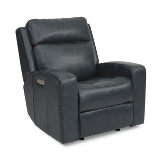Flexsteel Furniture CODY | CONTEMPORARY POWER GLIDING RECLINER WITH POWER HEADREST AND USB PORT | LEATHER 1820-54PH
