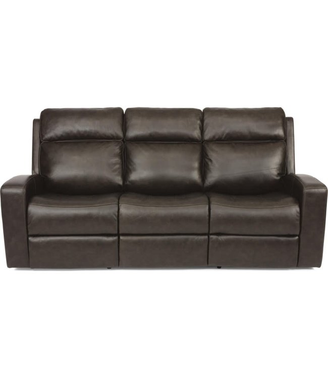 Flexsteel Furniture CODY | CONTEMPORARY POWER RECLINING SOFA WITH POWER HEADREST AND USB PORT | LEATHER 1820-62PH
