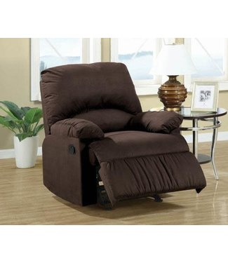 Coaster Chocolate Fabric Glider Rocker 600266G