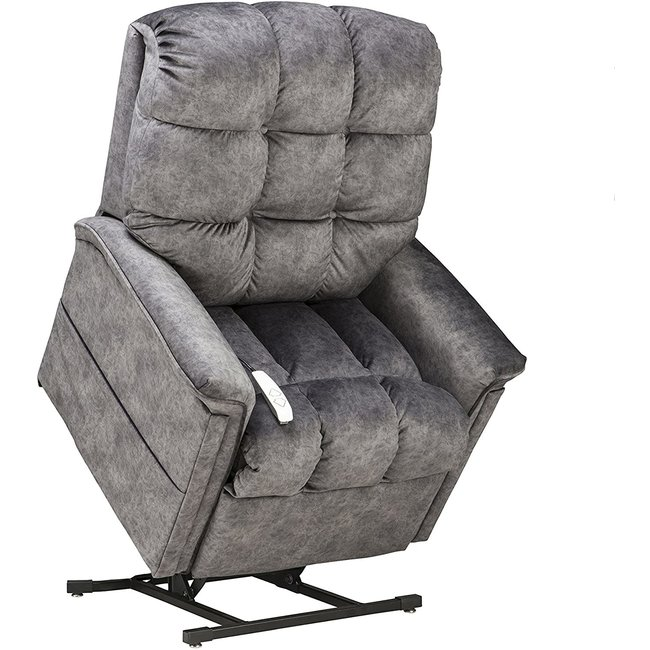 Mega Motion Power Lift Chair Chaise Lounger Recliner in Graphite Polyester by Mega Motion - NM-5001-GRAPH