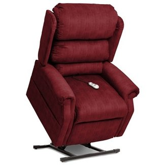 Mega Motion Cosmo Ultimate Power Chaise Lounger in Roger Bordeaux Polyester by Mega Motion - NM-2750-BO