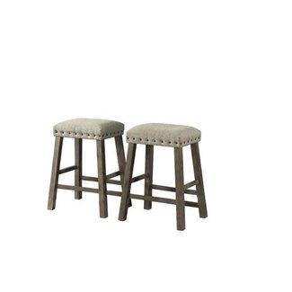 Lane Home Furnishings 5049 Gray Backless Upholstered Stool-5049-56 2 PK