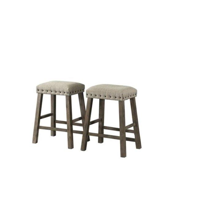 Lane® Home Furnishings 5049 Gray Backless Upholstered Stool-5049-56 SET OF 2