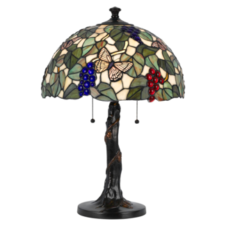 CAL Lighting BO-2312TB 60W X 2 Tiffany Table Lamp