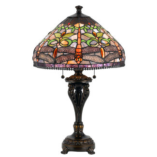 CAL Lighting BO-2355TB 60W X 2 Tiffany Table Lamp