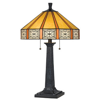 CAL Lighting BO-2718TB Tiffany 25 inch 60 watt Tiffany Table Lamp