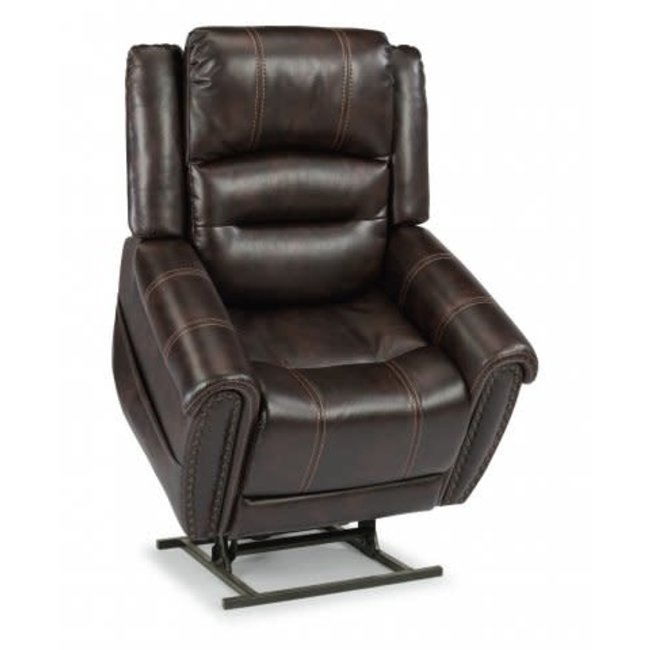 Flexsteel® Oscar Power Lift Recliner with Power Headrest and Lumbar Support by Flexsteel