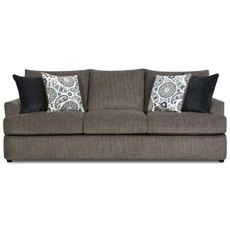 Lane Home Furnishings 8540 Grandstand Flannel Sofa-8540BR-03-8841A
