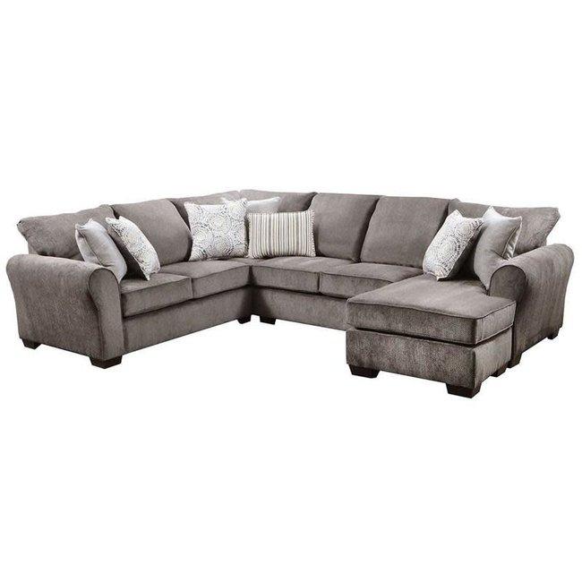 Lane® Home Furnishings Harlow Ash 2 Piece Sectional-1657-03LB+03RC-9208B