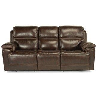 Flexsteel Furniture 1659-62PH-204-70 Fenwick Power Reclining Sofa with Power Tilt Headrest and USB Port by Flexsteel