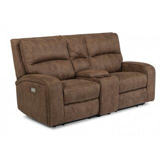 Flexsteel Furniture Nirvana | Power Reclining Loveseat w/ Power Headrests 1650-64PH