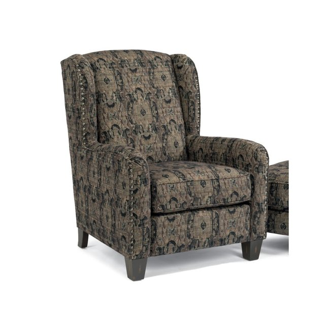 Accents Perth Wing Chair with Nailhead Border