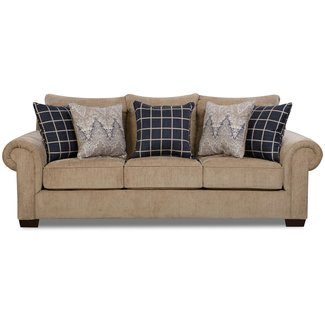 Lane Home Furnishings 7592 Gavin Mushroom Sofa-7592BR-03-9173A