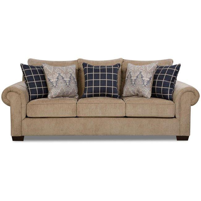Lane® Home Furnishings 7592 Gavin Mushroom Sofa-7592BR-03-9173A