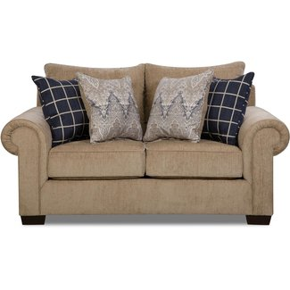 Lane® Home Furnishings 7592 Gavin Mushroom Loveseat-7592BR-02-9173A