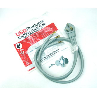 USD Range Oven Electric Power Cord 3 Prong Wire 50 Amp 4' Foot Heavy Duty