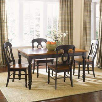 Liberty Furniture Low Country - Black (80-CD) Opt 5 Piece Rectangular Table Set SKU: 80-CD-O5RLS