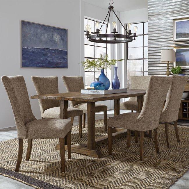 Liberty Furniture Havenbrook 7 Piece Trestle Table Set SKU: 262-CD-7TRS