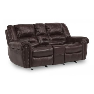 Flexsteel Furniture Town | GLIDING RECLINING LOVESEAT WITH CONSOLE  1010-604