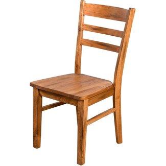 Sunny Designs Sedona |  Ladderback Chair w/ Wood Seat box of 2