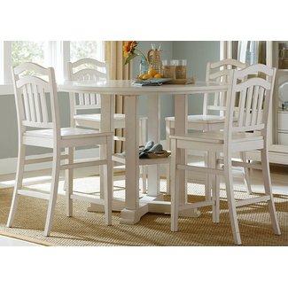 Liberty Furniture Summer Hills 518CD5GTS Dining Room Set White