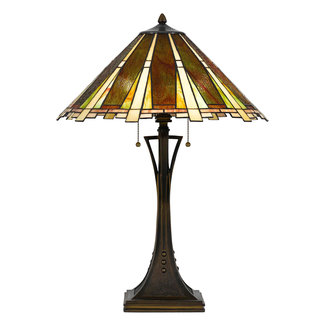 CAL Lighting BO-2645TB Tiffany 28 inch 60 watt Dark Bronze Table ...