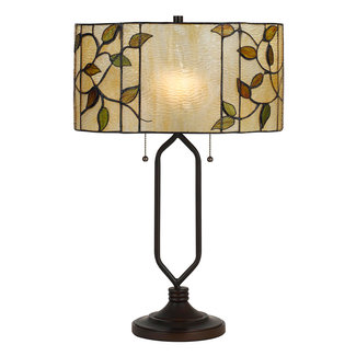 CAL Lighting BO-2674TB Tiffany Matt Black Lighting Table Lamp