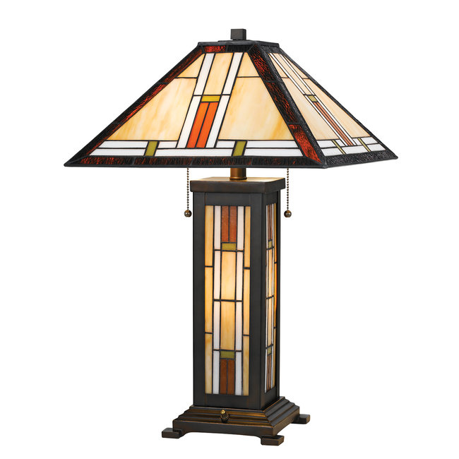 CAL Lighting BO-2719TB Tiffany 25 inch 60 watt Tiffany Table