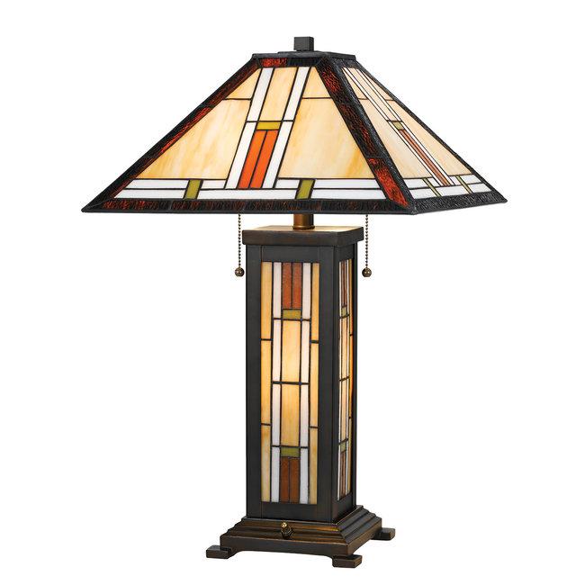 CAL Lighting BO-2719TB Tiffany 25 inch 60 watt Tiffany Table